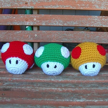 Mario Brothers Mushrooms