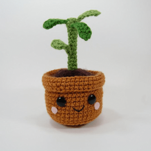 Pull and Grow Amigurumi Plant