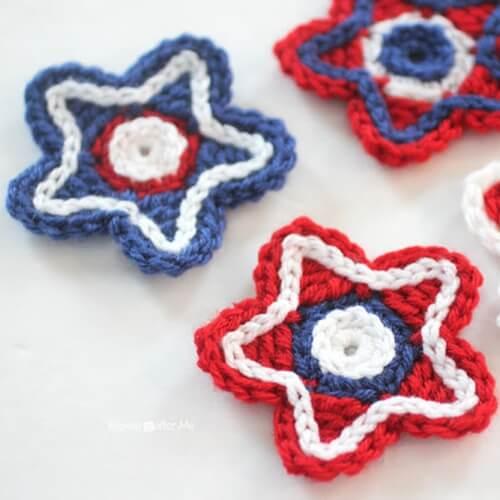 Patriotic Crocheted Stars