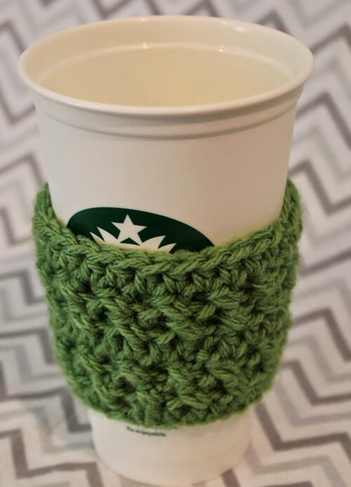 Crochet Textured Coffee Sleeve