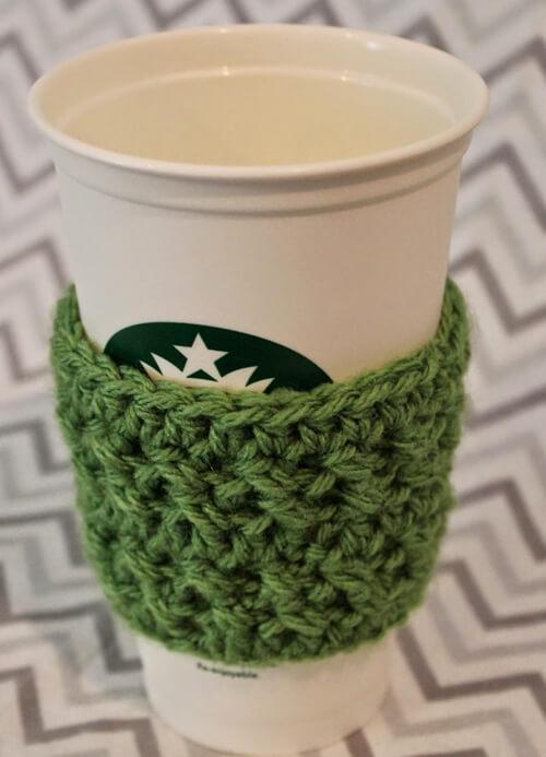 Crochet Textured Coffee Sleeve