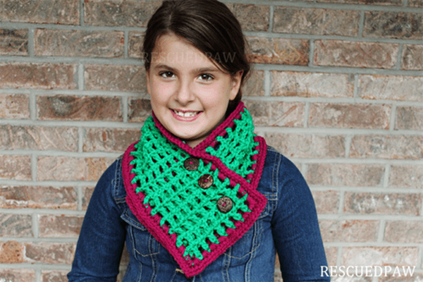 Mesh Button Scarf