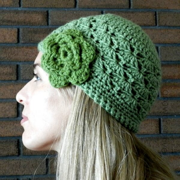 Shell Stitch Crochet Hat