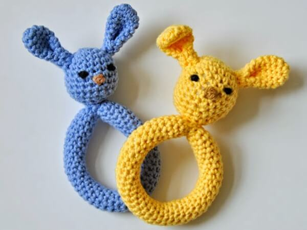 Plush Bunny Teething Ring