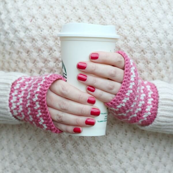 Spike Stitch Crochet Handwarmers