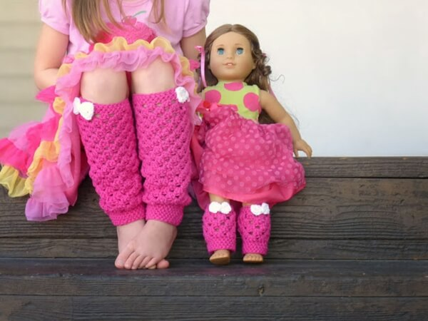 Girly leg warmers