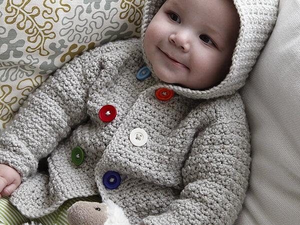 Cosy Hooded Baby Jacket