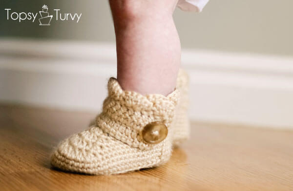 Crochet Wrap Around Button Baby Boots Pattern : Share A Pattern Best Free Patterns In One Place. Page 5