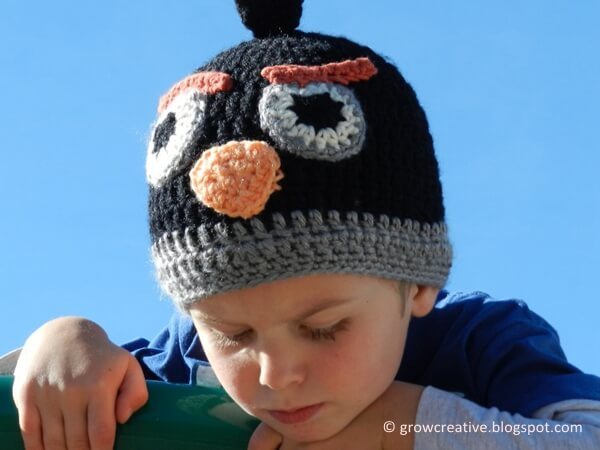 Black Angry Birds Hat
