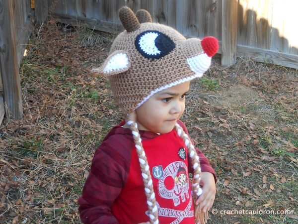 Red-Nosed Reindeer Hat