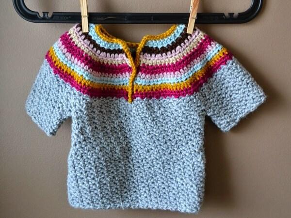 Cozy Wattle Stitch Baby Sweater