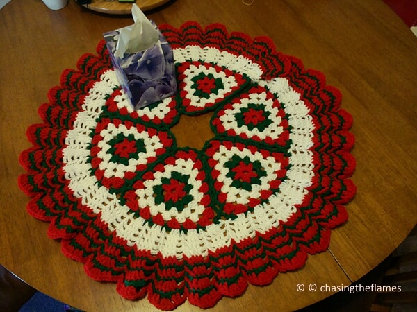 Christmas Crochet Tree Skirt