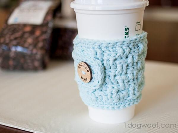 Basketweave Cup Cozy