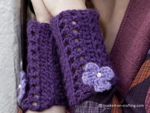 Sparkle Flower Wristlets