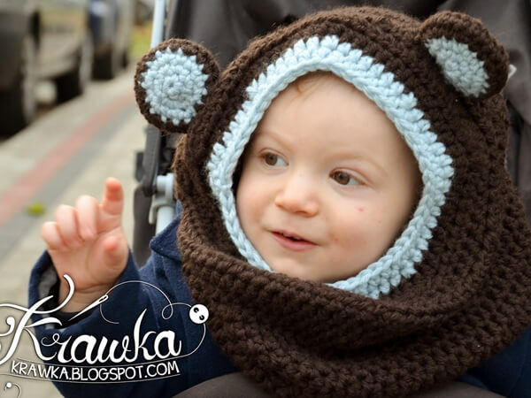 Little Bear - Hooded Cowl