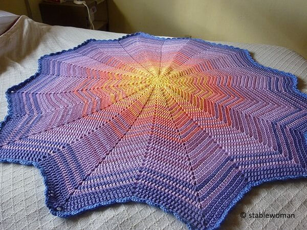 Lyns Round Ripple Baby Afghan Share A Pattern