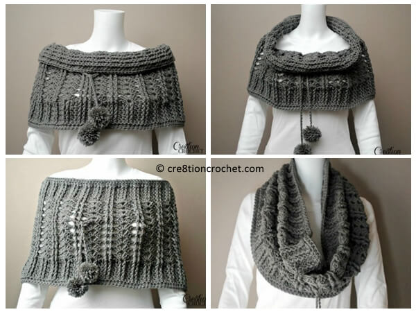 Free Crochet Convertible Cowl Pattern : Cathedral Convertible Cowl Share a Pattern