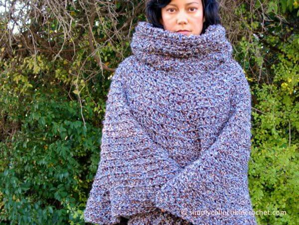 Cowl Hooded Poncho Share a Pattern
