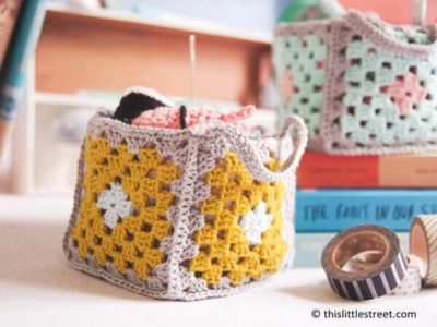 Mini Granny Square Baskets