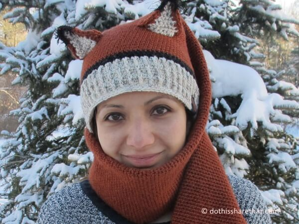 Fox Hat And Scarf Combo Share A Pattern