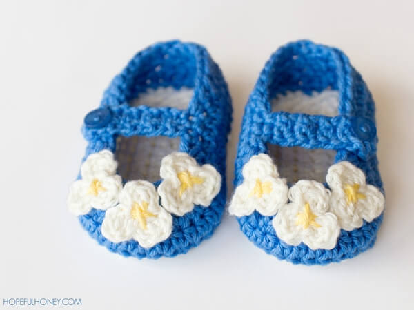 Vintage Mary Jane Baby Booties
