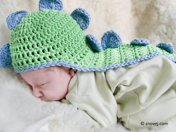 Dinosaur Baby Hat With Cape