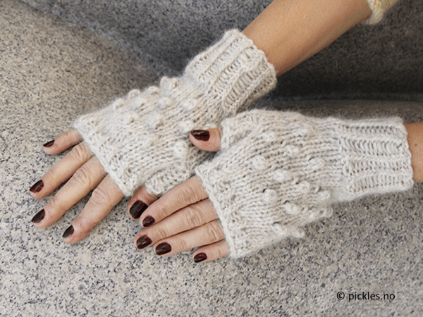 Fingerless Dotty Gloves