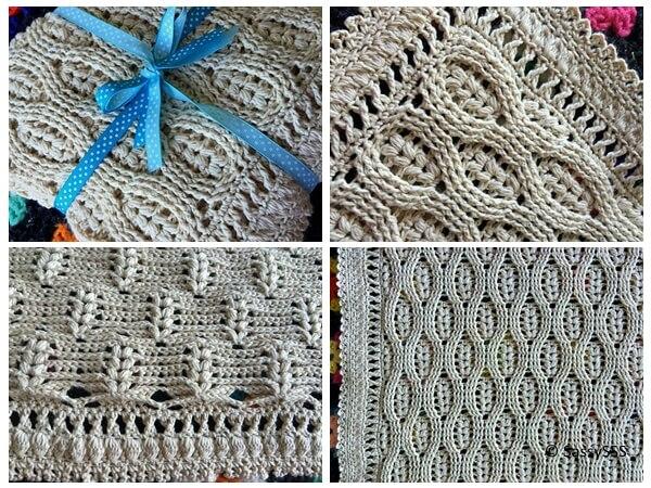 Wheat Stitch Baby Blanket
