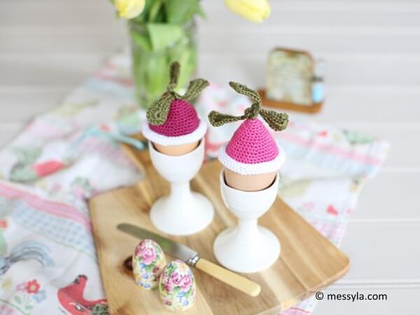 Crochet Radish Egg Cosies