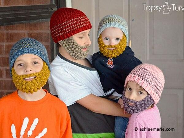 bobble bearded beanie