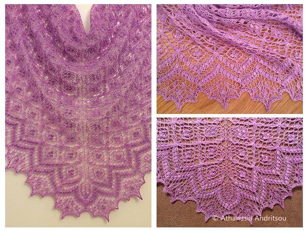 Birds' nest shawl