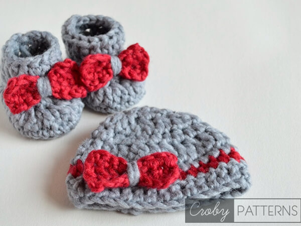 Baby Booties and Beanie