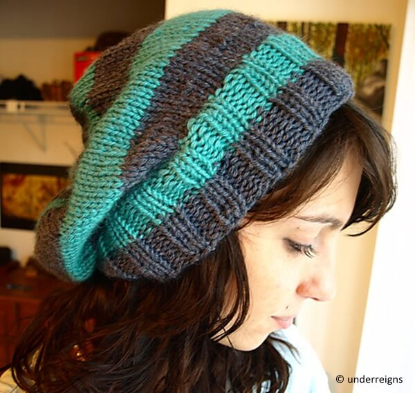 My Striped & Slouchy Hat