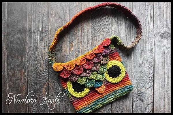 Crocodile Stitch Owl Bag