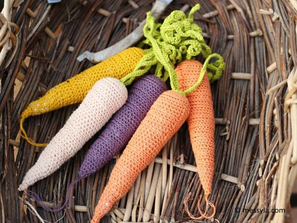 A Bunch of Crochet Carrots