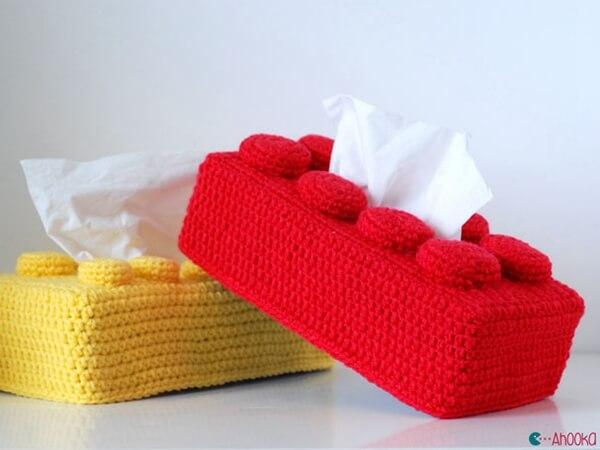 Lego brick tissue box cover