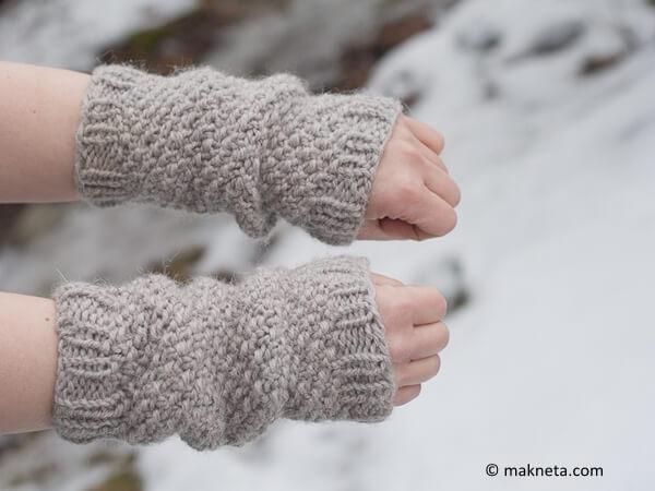 Pearl wrist warmers