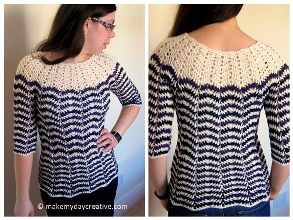 Chevron stripes 3 season sweater