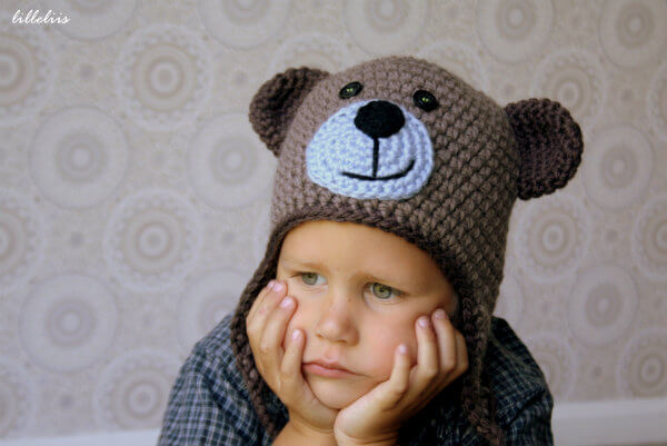 Crochet Baby Teddy Bear Hat Pattern : Crochet Teddy Bear Hat Share a Pattern