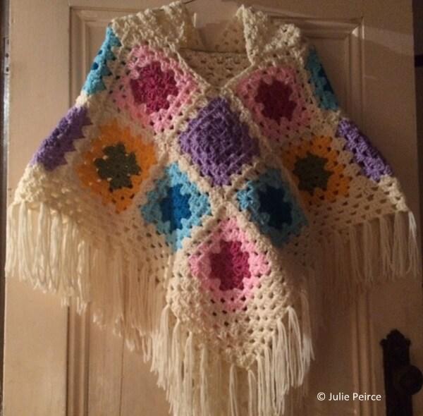 Granny Hooded Poncho