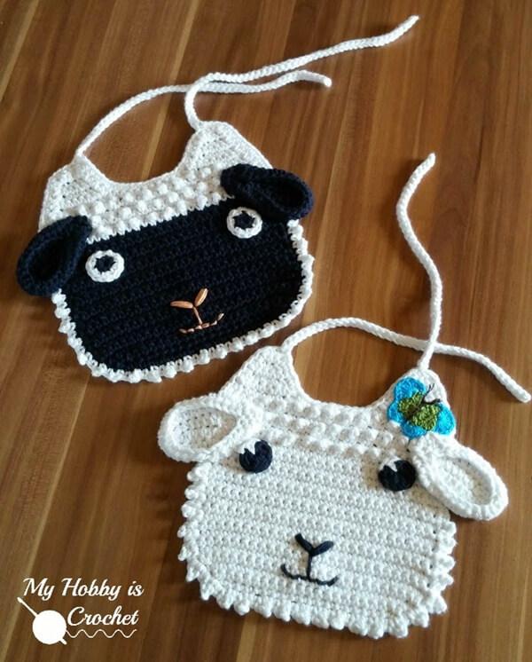 Little Lamb Crochet Baby Bib Share A Pattern