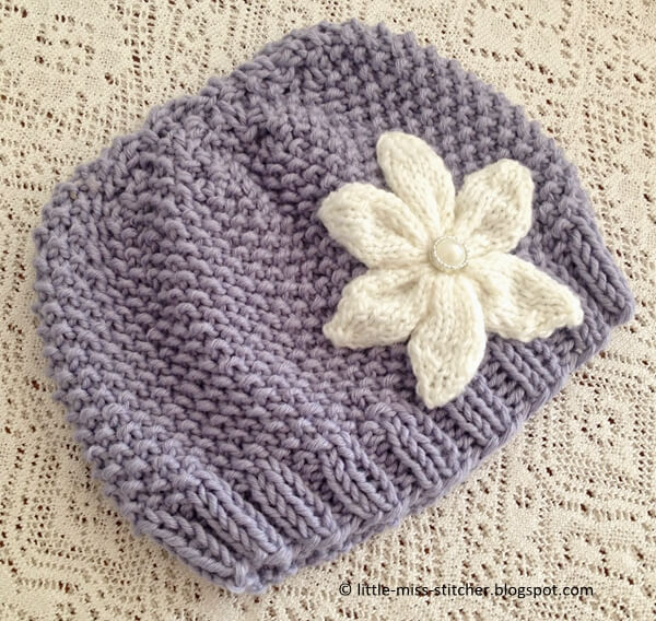 texture knit toddler hat pattern