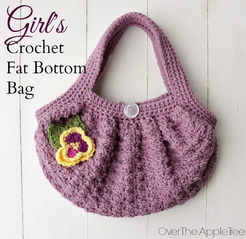Girl's Crochet Fat Bottom Bag