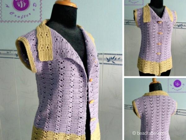 vintage collared vest