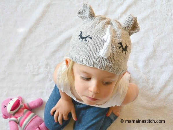 Knit Rhinoceros Hat