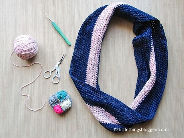 Crochet Spring Moebius Cowl With Ihasa