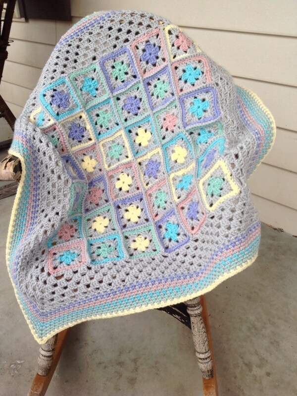 Think Spring Baby Blanket