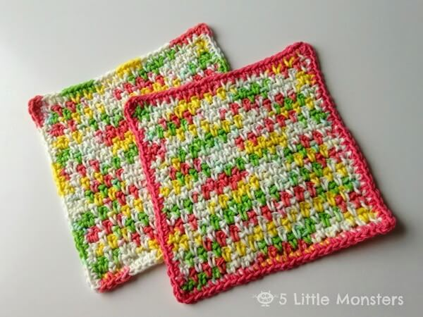 Moss Stitch Dishcloth Share a Pattern