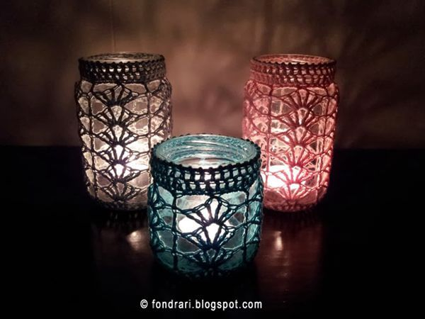 Crochet Jar Cover Pattern