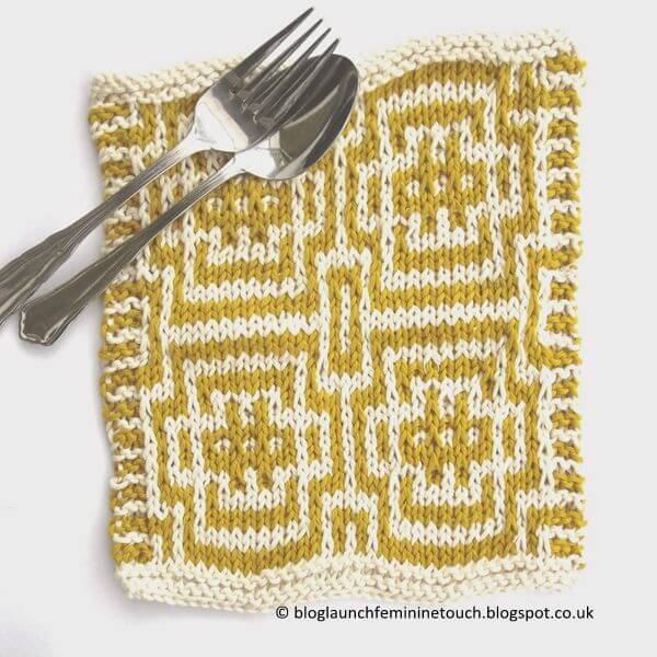 Mosaic Knitting Dishcloth